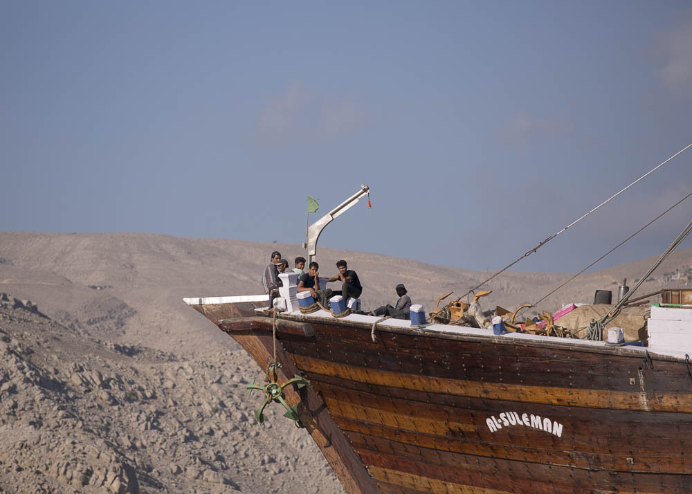 A dhow outside the port of Khasab