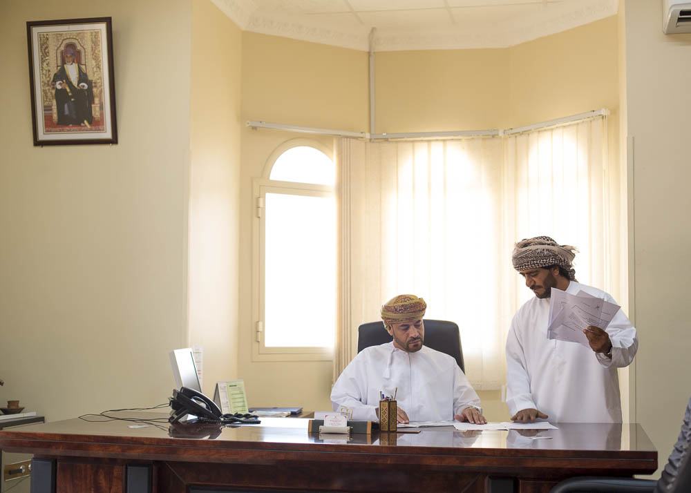 Mohammed Abdullah Al Shehi (seated) is the Manager of the Department of Commerce and Industry for the Oman governorate of Musandam.