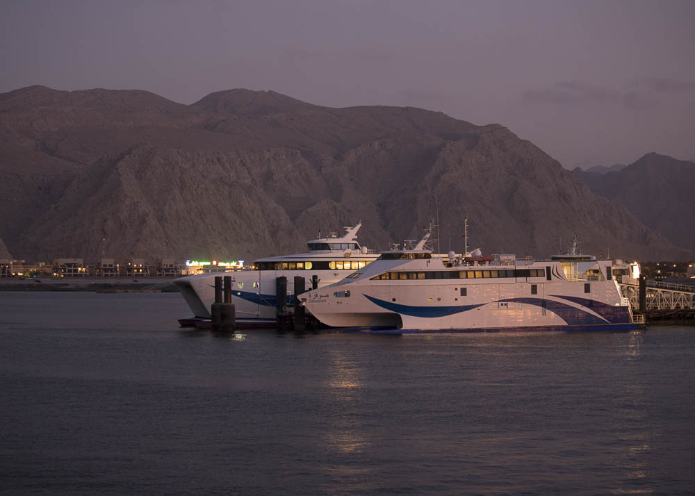 Ferries at the port of Khasab