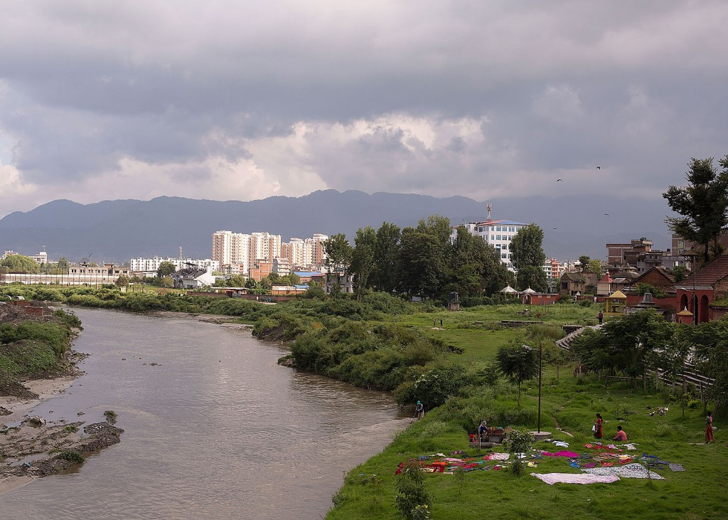 The riverbank where Samita Bajracharya was taken at the end of her Kumari service as part of a bathing ritual.