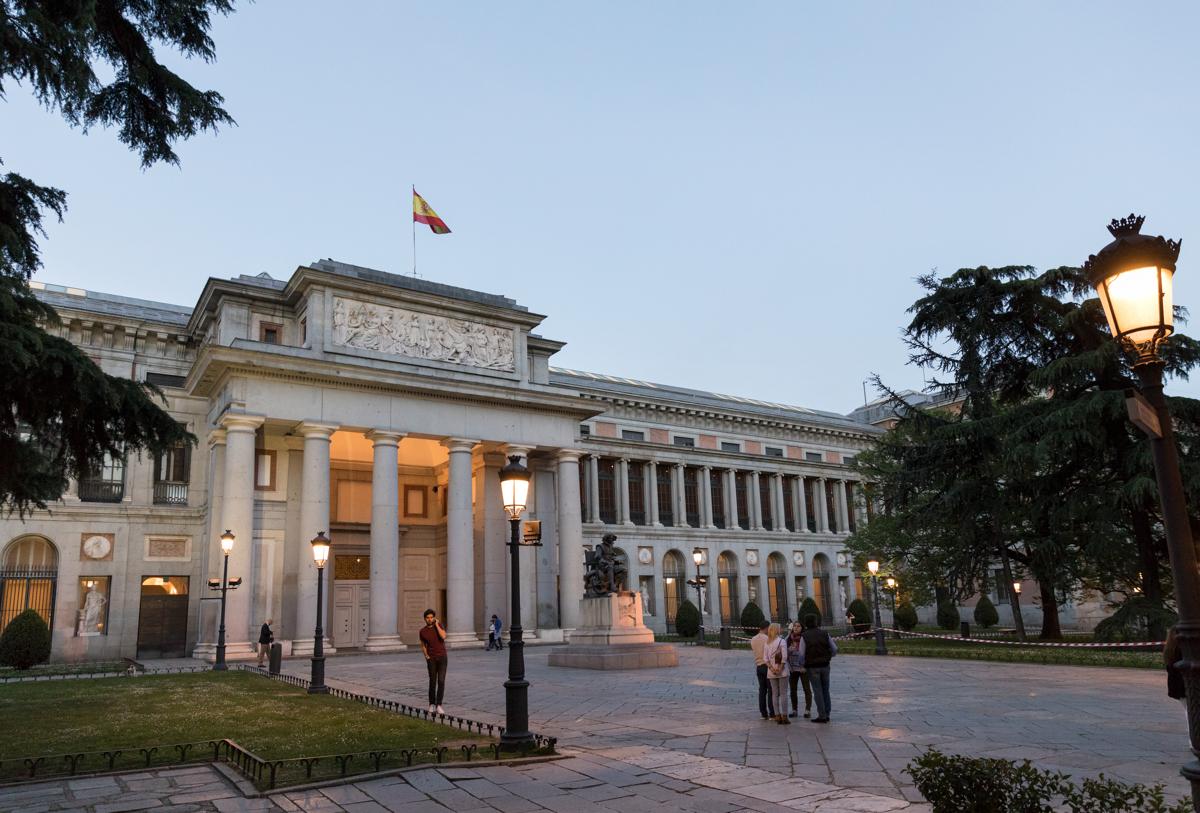 Exterior of Prado Museum, Madrid
