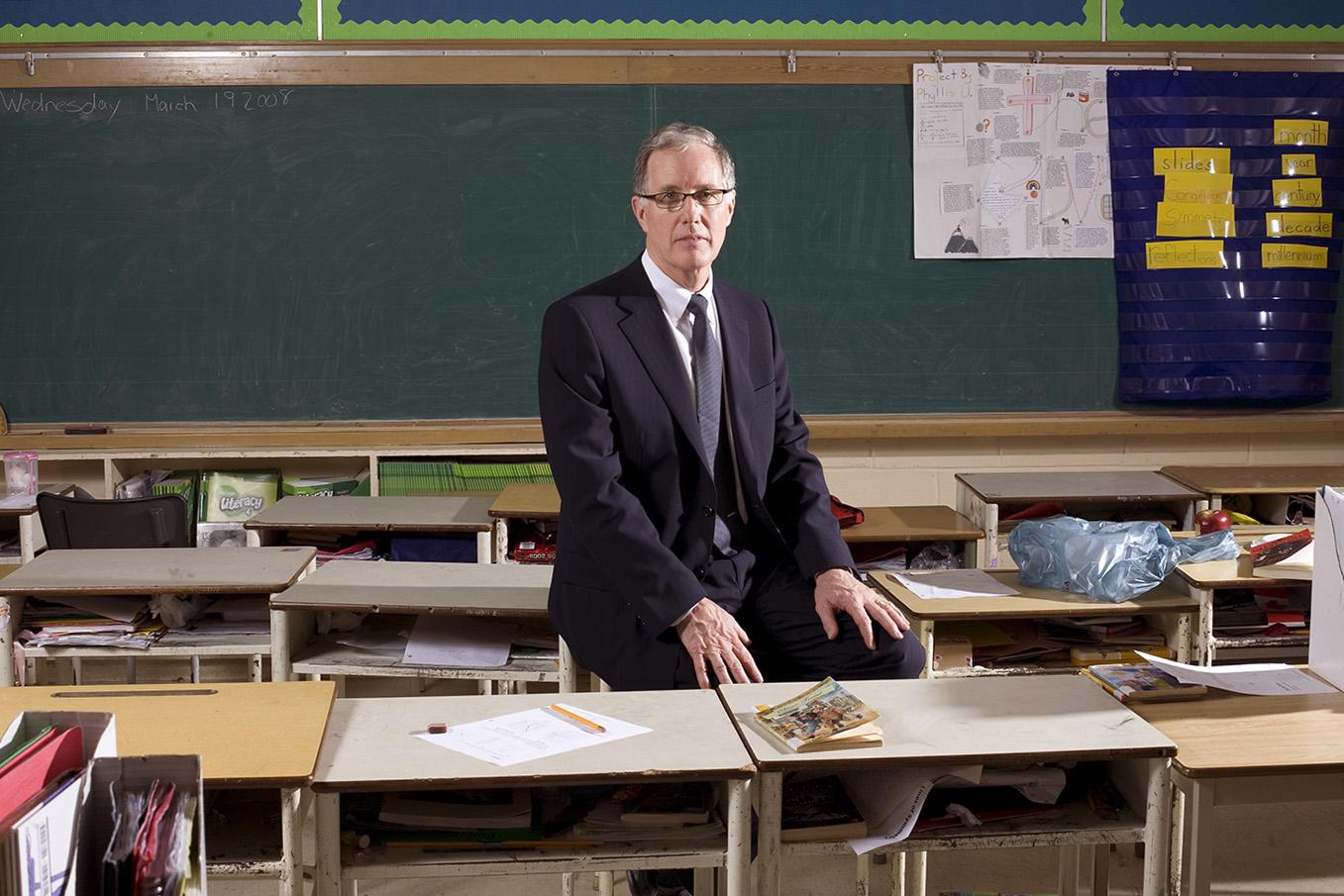 Portrait of Jim Leech, former head of OTPP